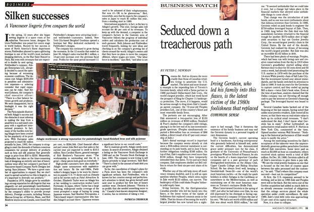 Article Preview: Silken successes, December 1991 | Maclean's