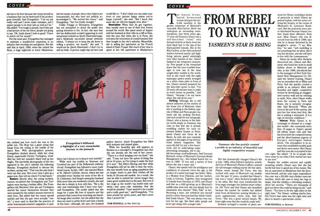 Article Preview: FROM REBEL TO RUNWAY, December 1991 | Maclean's