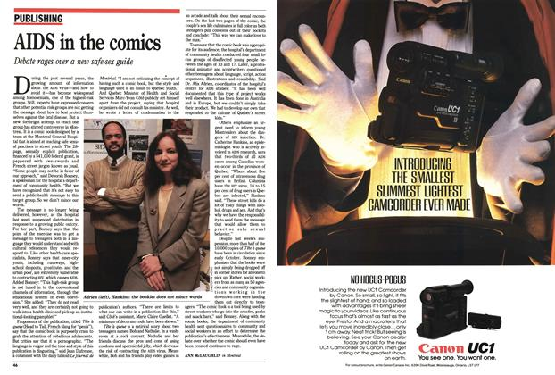 Article Preview: AIDS in the comics, December 1991 | Maclean's