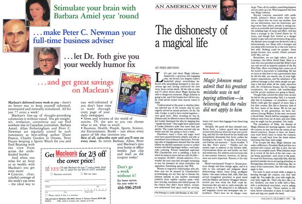 Article Preview: The dishonesty of a magical life, December 1991 | Maclean's