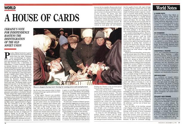 Article Preview: A HOUSE OF CARDS, December 1991 | Maclean's