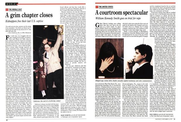 Article Preview: A courtroom spectacular, December 1991 | Maclean's