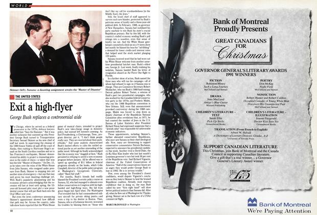 Article Preview: Exit a high-flyer, December 1991 | Maclean's