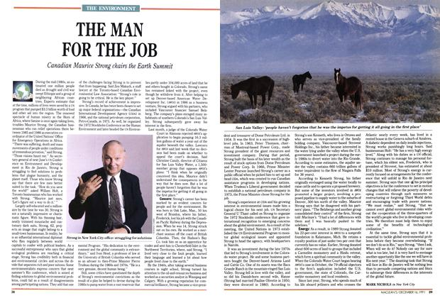 Article Preview: THE MAN FOR THE JOB, December 1991 | Maclean's