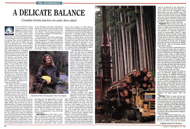 Article Preview: A DELICATE BALANCE, December 1991 | Maclean's