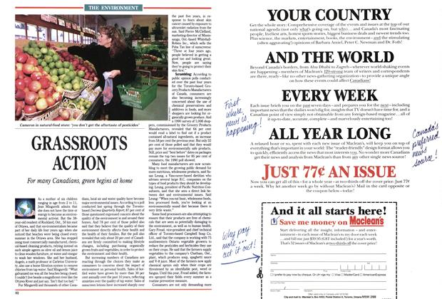 Article Preview: GRASSROOTS ACTION, December 1991 | Maclean's