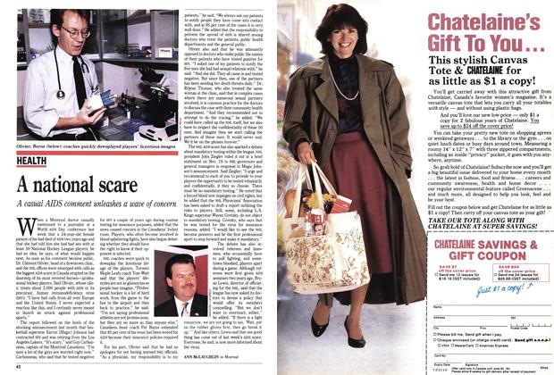Article Preview: A national scare, December 1991 | Maclean's