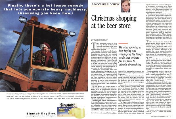 Article Preview: Christmas shopping at the beer store, December 1991 | Maclean's