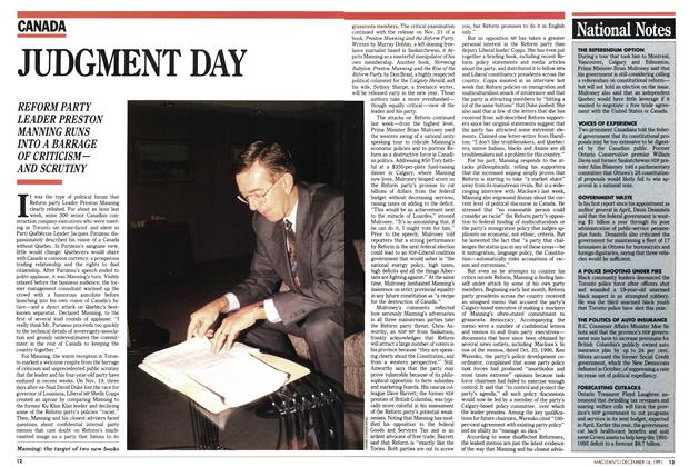Article Preview: National Notes, December 1991 | Maclean's