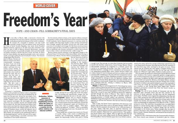 Article Preview: Freedom's Year, December 1991 | Maclean's