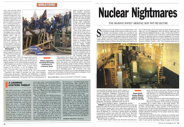 Article Preview: A LOOMING EASTERN THREAT, December 1991 | Maclean's