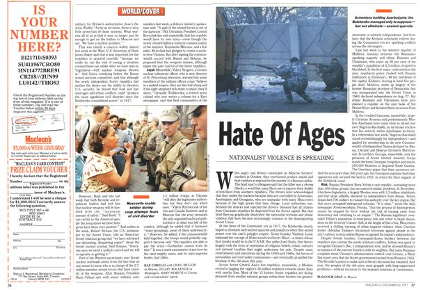 Article Preview: Hate Of Ages, December 1991 | Maclean's