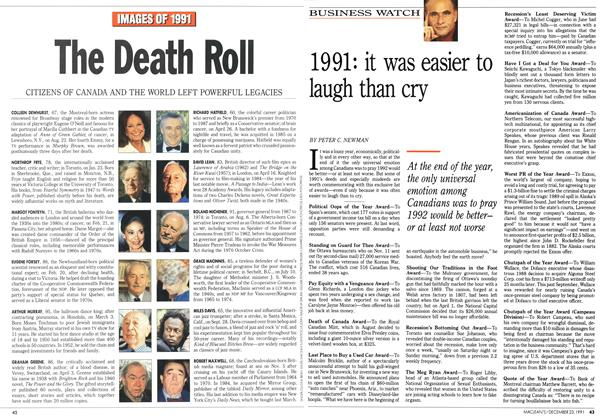 Article Preview: 1991: it was easier to laugh than cry, December 1991 | Maclean's