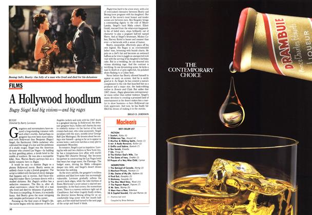 Article Preview: A Hollywood hoodlum, December 1991 | Maclean's