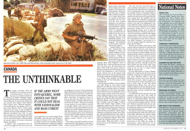 Article Preview: THE UNTHINKABLE, December 1991 | Maclean's