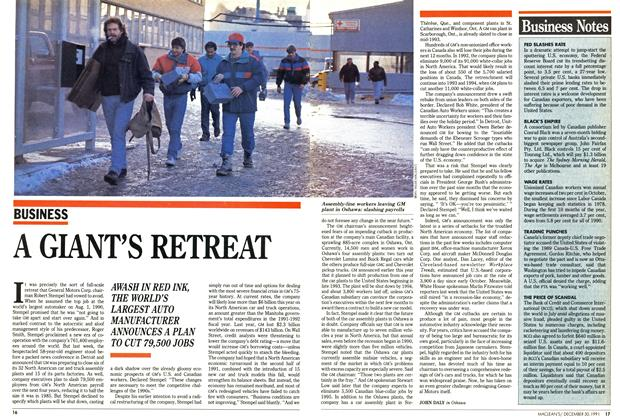 Article Preview: A GIANT'S RETREAT, December 1991 | Maclean's