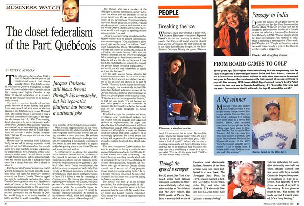 Article Preview: The closet federalism of the Parti Québécois, December 1991 | Maclean's