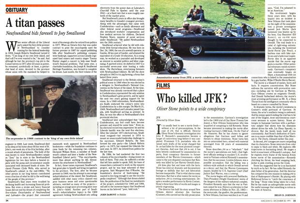Article Preview: Who killed JFK?, December 1991 | Maclean's