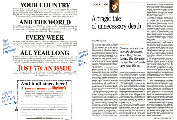 Article Preview: A tragic tale of unnecessary death, December 1991 | Maclean's