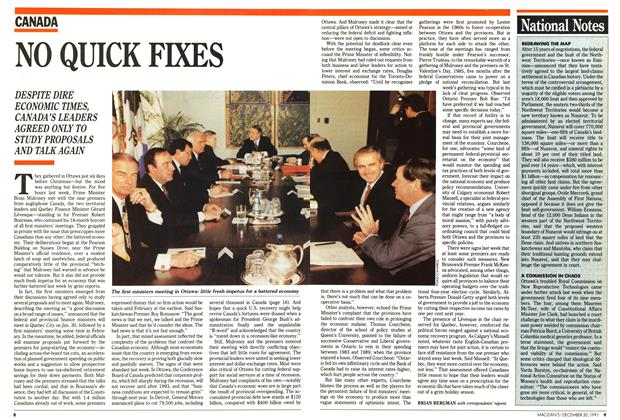 Article Preview: NO QUICK FIXES, December 1991 | Maclean's