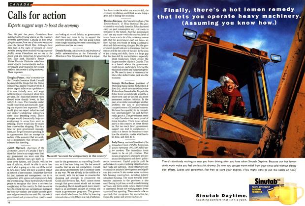 Article Preview: Calls for action, December 1991 | Maclean's