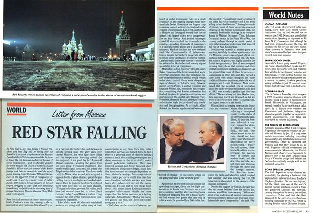 Article Preview: RED STAR FALLING, December 1991 | Maclean's