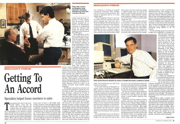Article Preview: Getting To An Accord, January 1992 | Maclean's