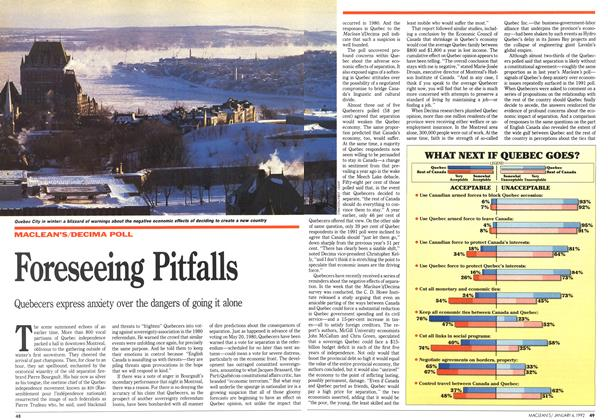 Article Preview: Foreseeing Pitfalls, January 1992 | Maclean's