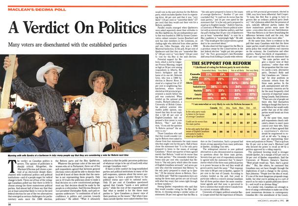 Article Preview: A Verdict On Politics, January 1992 | Maclean's