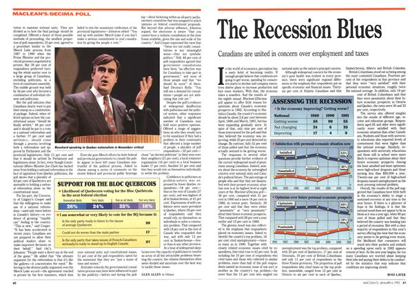 Article Preview: The Recession Blues, January 1992 | Maclean's