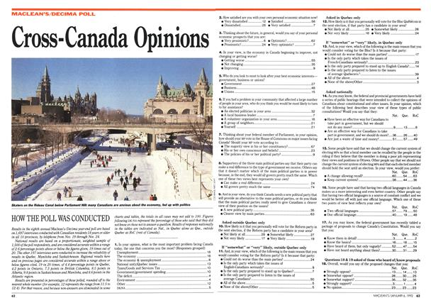 Article Preview: Cross-Canada Opinions, January 1992 | Maclean's