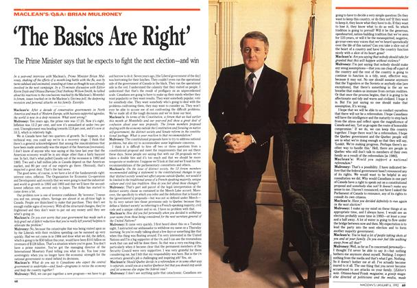 Article Preview: 'The Basics Are Right', January 1992 | Maclean's