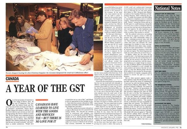Article Preview: National Notes, January 1992 | Maclean's