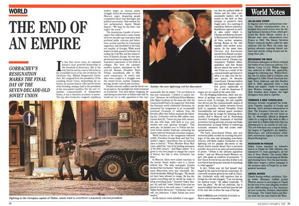 Article Preview: World Notes, January 1992 | Maclean's