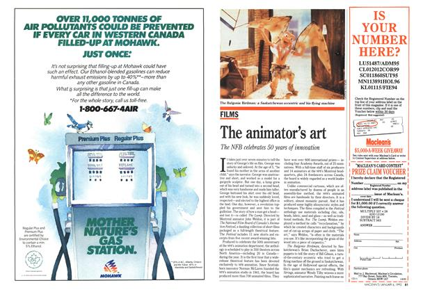 Article Preview: The animator's art, January 1992 | Maclean's