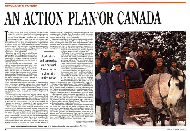 Article Preview: AN ACTION PLAN FOR CANADA, January 1992 | Maclean's