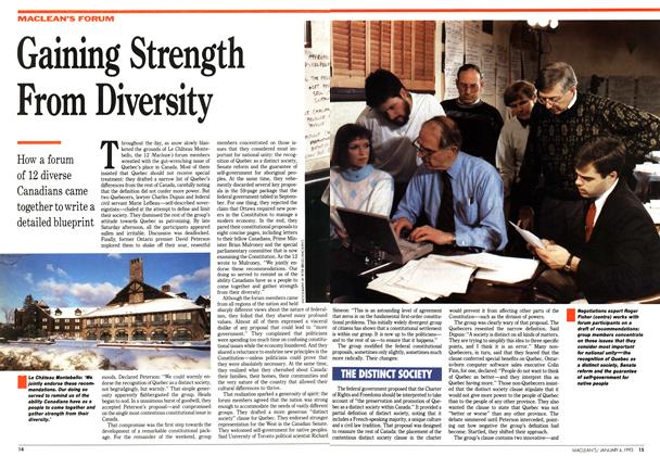 Article Preview: Gaining Strength From Diversity, January 1992 | Maclean's