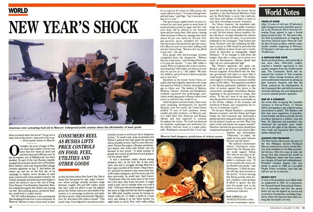 Article Preview: NEW YEAR'S SHOCK, January 1992 | Maclean's