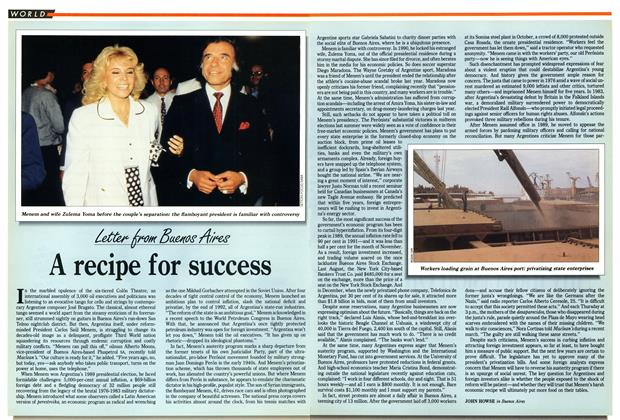 Article Preview: A recipe for success, January 1992 | Maclean's