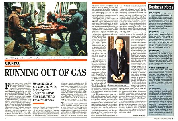 Article Preview: RUNNING OUT OF GAS, January 1992 | Maclean's