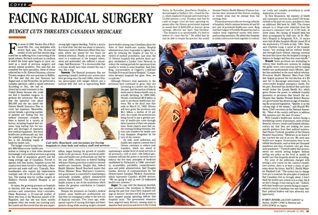 Article Preview: FACING RADICAL SURGERY, January 1992 | Maclean's