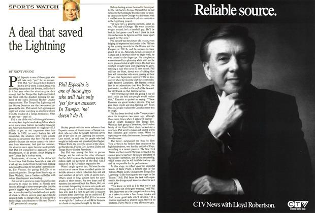 Article Preview: A deal that saved the Lightning, January 1992 | Maclean's