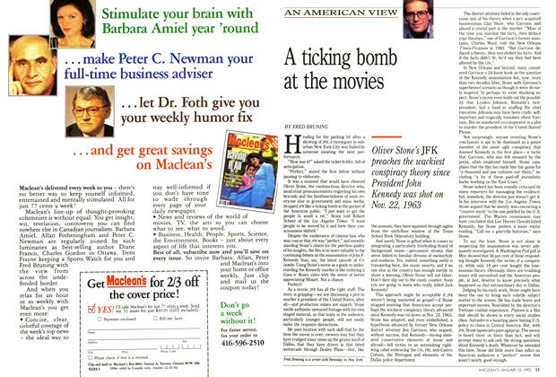 Article Preview: A ticking bomb at the movies, January 1992 | Maclean's