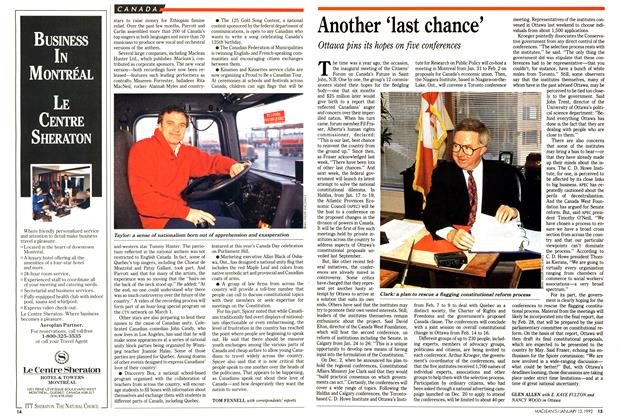 Article Preview: Another 'last chance', January 1992 | Maclean's