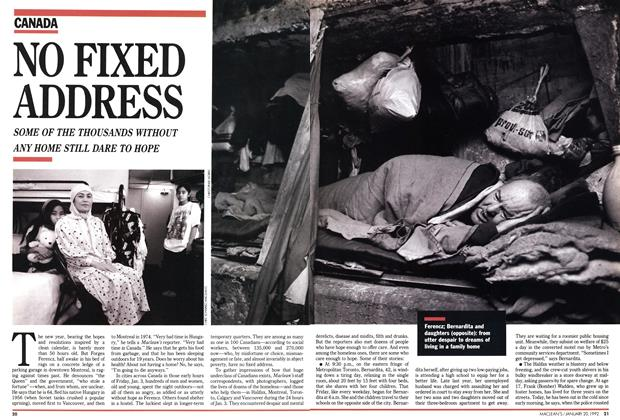 Article Preview: NO FIXED ADDRESS, January 1992 | Maclean's