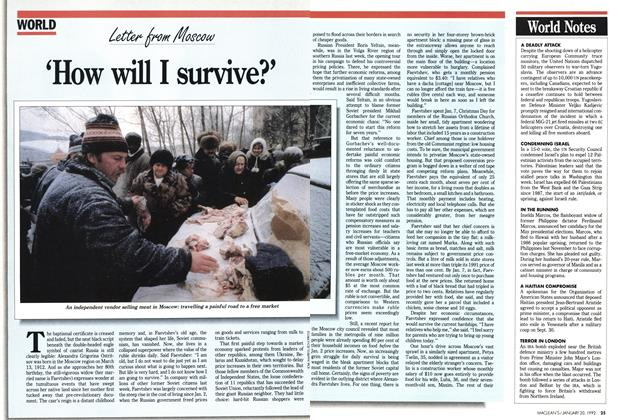 Article Preview: 'How will I survive?, January 1992 | Maclean's