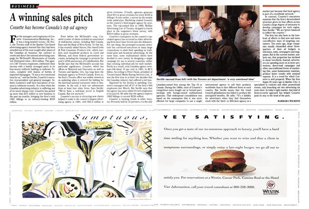 Article Preview: A winning sales pitch, January 1992 | Maclean's