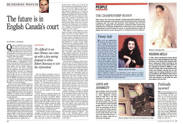 Article Preview: The future is in English Canada's court, January 1992 | Maclean's