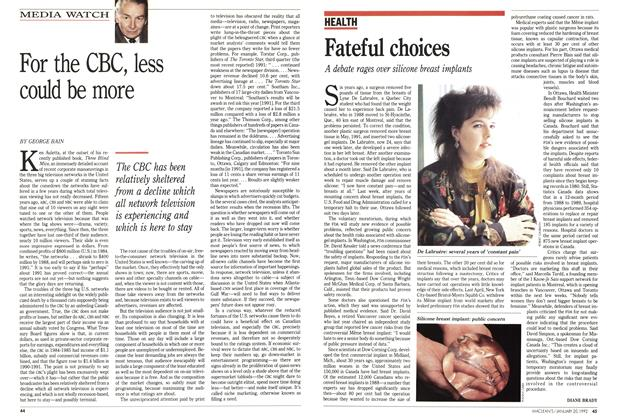 Article Preview: Fateful choices, January 1992 | Maclean's