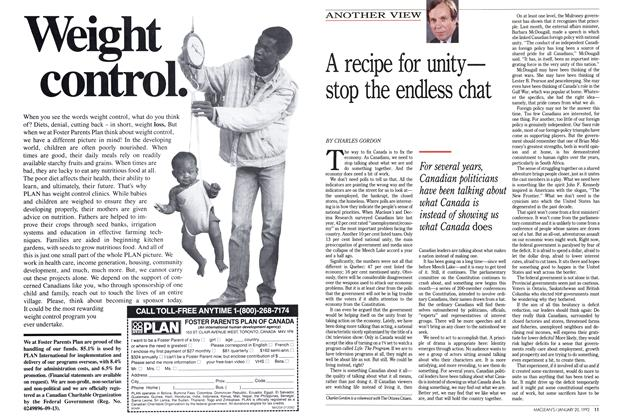 Article Preview: A recipe for unity— stop the endless chat, January 1992 | Maclean's